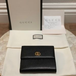 5721dc4218b0 Gucci Bags | Leather French Flap Wallet | Poshmark